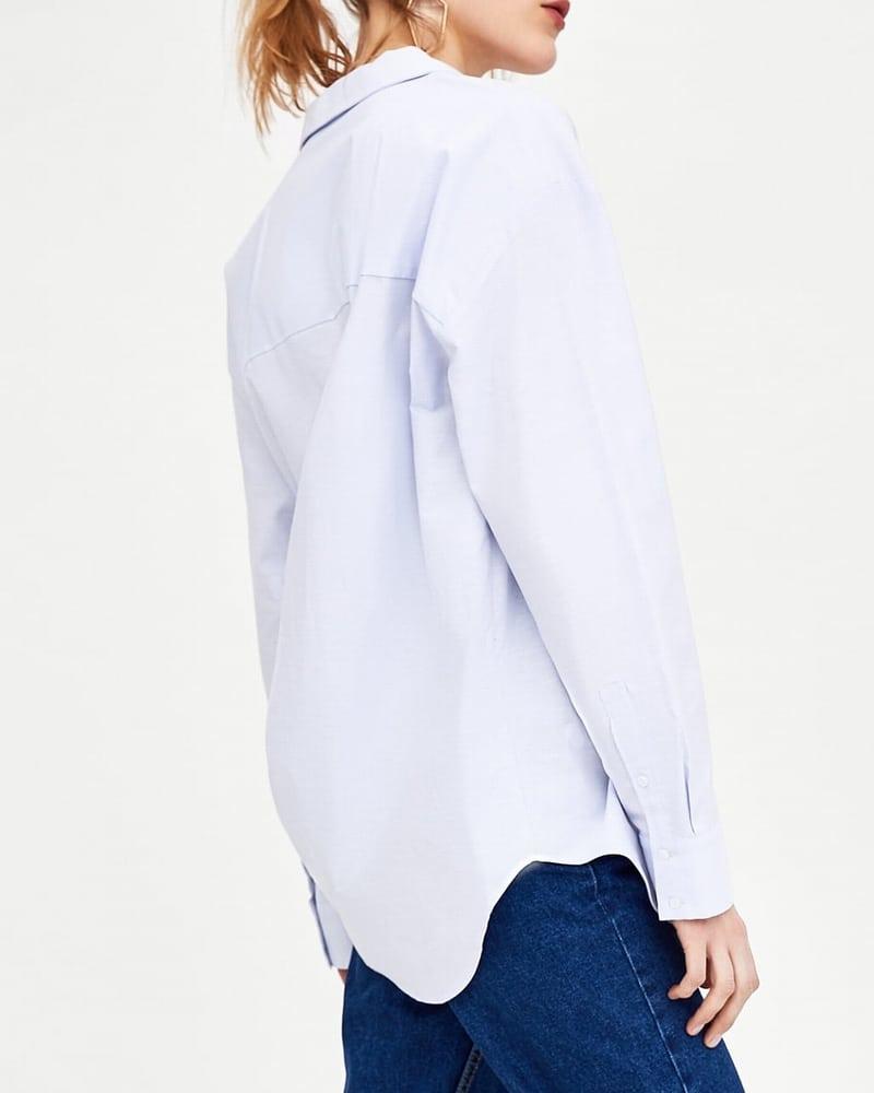 ●ZARA●春新作♪ポプリンリブシャツ