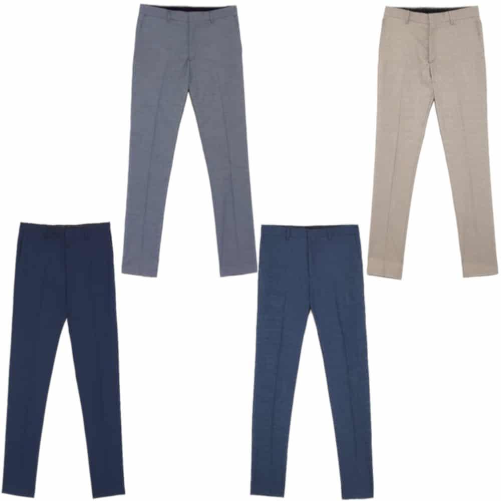 6f7f571b ZARANew winter bird's eye suit pants | BORDER-GARA